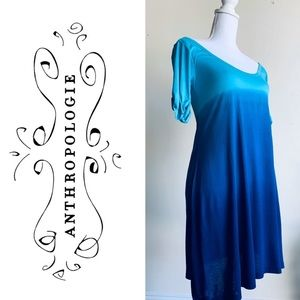 Anthro Aoyama Itchome Blue Ombré Dress